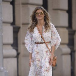Heidi Klum con un vestido largo por las calles de Nueva York 2018