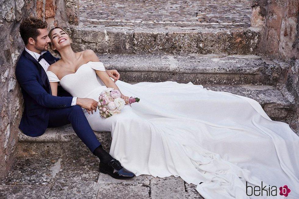 Rosanna Zanetti vestida de Pronovias se da el 'sí quiero' con David Bisbal 2018