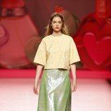 Falda de plástico de Ágatha Ruiz de la Prada en Madrid Fashion Week primavera/verano 2019