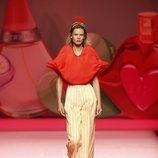 Blusa con forma de labios de Ágatha Ruiz de la Prada en Madrid Fashion Week primavera/verano 2019