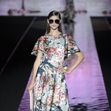 Vestido de estampado floral de Hannibal Laguna primavera/verano 2019 en la Madrid Fashion Week