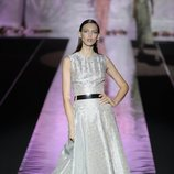 Vestido vintage de Hannibal Laguna primavera/verano 2019 en la Madrid Fashion Week