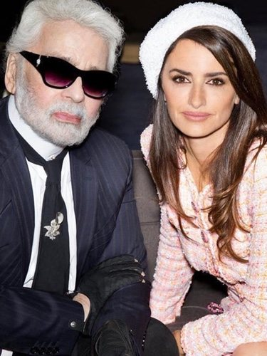karl Lagerfeld  y Penélope Cruz en un nuevo proyecto para la firma francesa Chanel