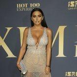Abigail Ratchford con un vestido transparente en la fiesta Maxi Hot 100 Experience en Los Ángeles 2018
