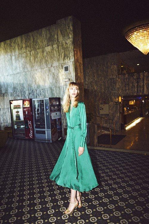 Vestido midi verde de la nueva colección de otoño/invierno 2018/2019 de Dolores Promesas