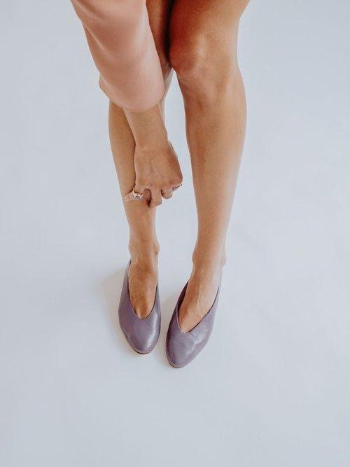 Bailarinas malva de la pre-colección de la firma española Bobo's 2018