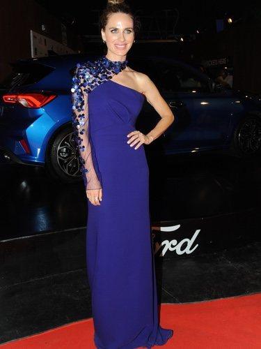 Vanesa Romero con un vestido azul en el Festival Starlite en Marbella 2018