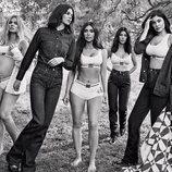 Las hermanas Kardashian posando para la nueva campaña de Calvin Klein 2018