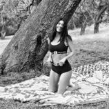 Kourthey Kardashian en ropa interior de color negra de Calvin Klein 2018