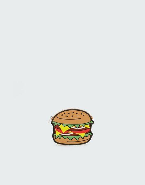 Monedero con forma de hamburguesa de la nueva colección de accesorios de Pull and Bear 2018