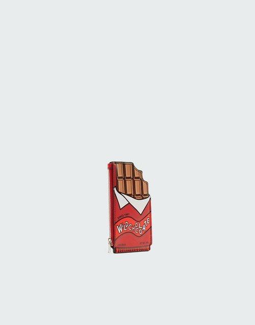 Monedero tableta de chocolate de la nueva colección de accesorios de Pull and Bear 2018