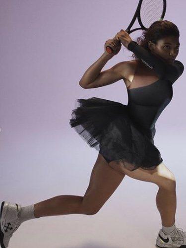 Vestido negro de tenis de la nueva colección de Virgil Abloh, Nike con Serena Williams 2018