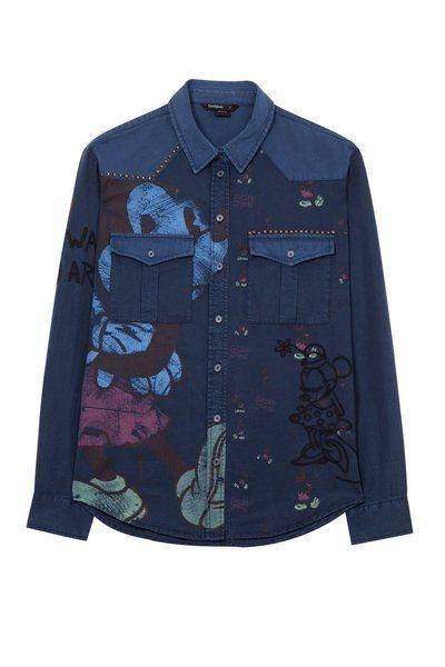 Camisa vaquera de Mickey Mouse de la colección otoño/invierno 2018/2019 de Desigual