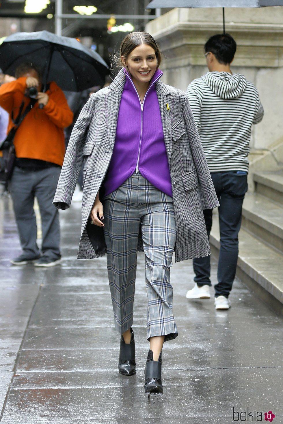 Olivia Palermo luce estampado en Nueva York