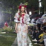 Vestido floral de Rodarte primavera/verano 2019 en la New York Fashion Week