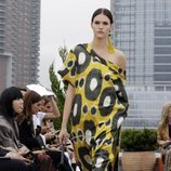 Vestido animal print de Oscar de la Renta primavera/verano 2019 en la New York Fashion Week