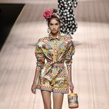 Vestido multicolor de Dolce&Gabbana primavera/verano 2019 en la Milán Fashion Week