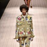 Total look floral de Dolce&Gabbana primavera/verano 2019 en la Milán Fashion Week