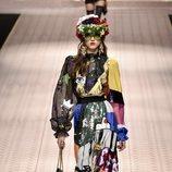 Vestido estampado de Dolce&Gabbana primavera/verano 2019 en la Milán Fashion Week