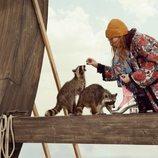 Abrigo estampado de la colección crucero 2019 de Gucci