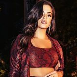 Conjunto granate de la colección cápsula de Ashley Graham para Pretty Little Things