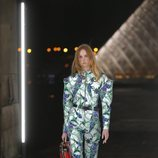 Jumpsuit estampado de Louis Vuitton primavera/verano 2019 en la Paris Fashion Week