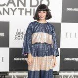 Coco Dávez con un mono oversize en los elle awards 2018