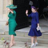 Sarah Ferguson y Beatriz de York en la boda de Eugenia de York y Jack Brooksbank 2018