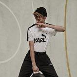 Camiseta y mochila de la colección cápsula de Karl Lagerfeld para Puma