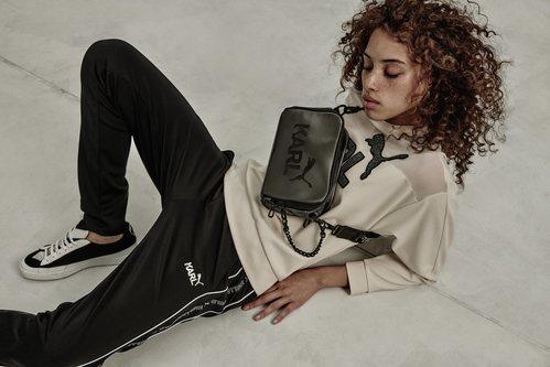 Bolso de la colección cápsula de Karl Lagerfeld para Puma