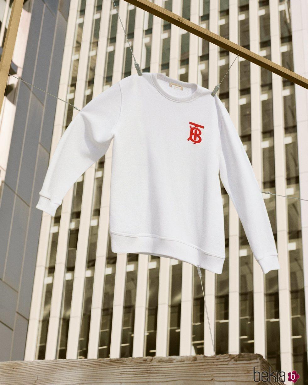 Sudadera blanca de Burberry de la colección cápsula 'B Series'