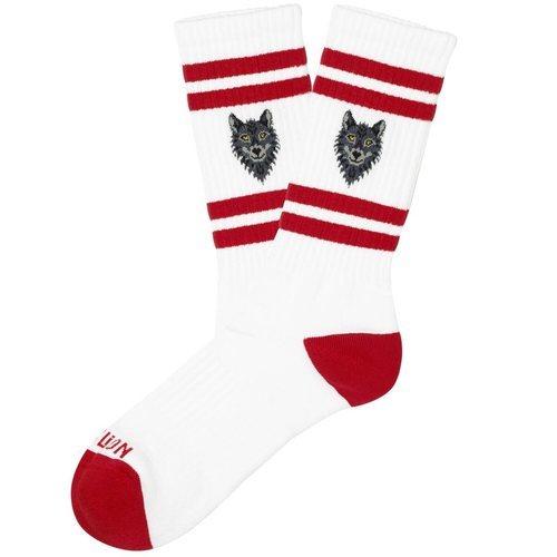 Calcetines blancos y rojos de la colección 'Athletics' de Jimmy Lion