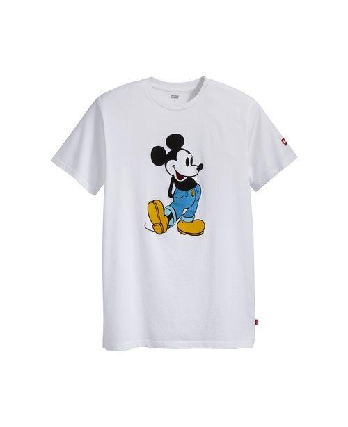 Camiseta blanca de la nueva colección Levi's x Mickey Mouse