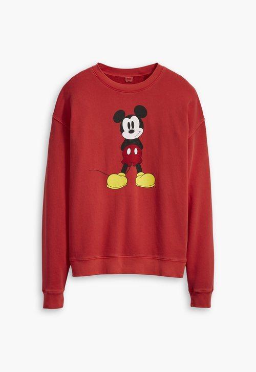 Sudadera roja de la nueva colección Levi's x Mickey Mouse
