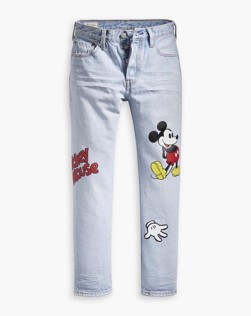 Vaqueros de la nueva colección de Levi's x Mickey Mouse
