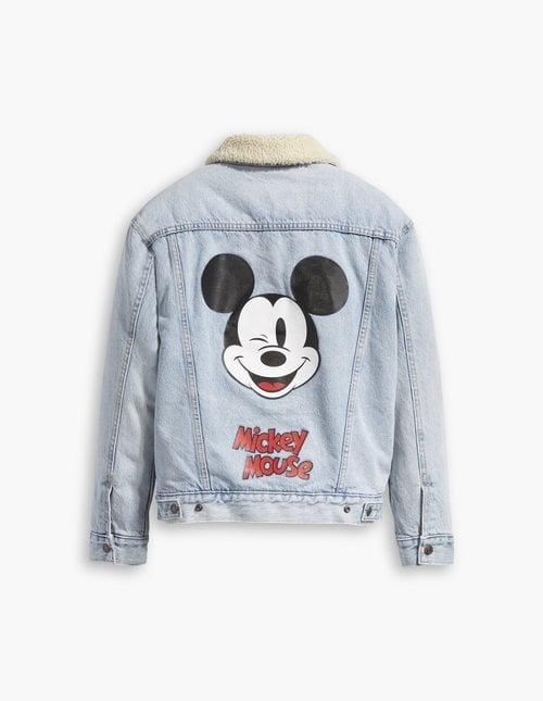 Cazadora con borrego nueva colección Levis x Mickey Mouse