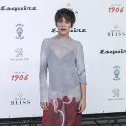 María León con un vestido transparente