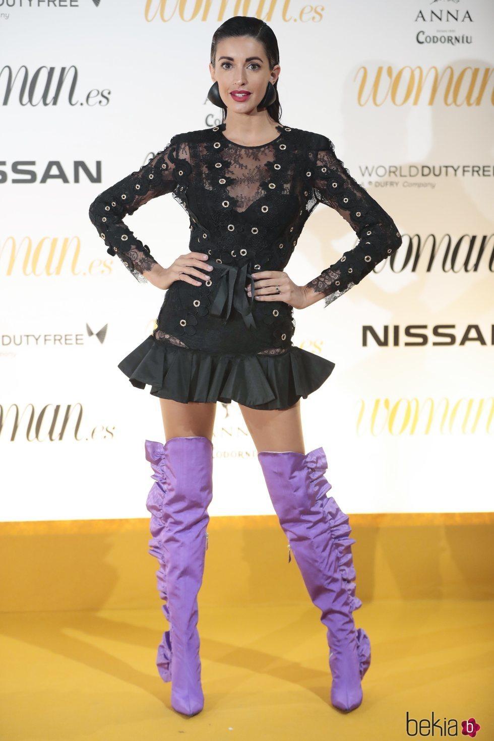 Noelia López luce un calzado llamativo y hortera