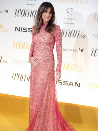 Isabel Jimenez espectacular en su vestido premamá