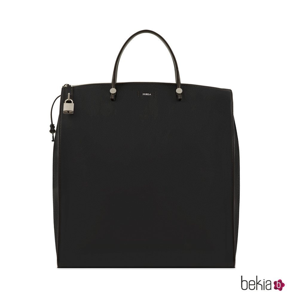Bolso de viaje tote negro de Furla FW18