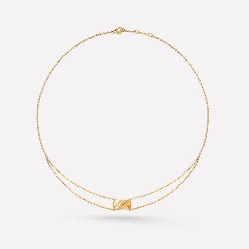 Collar dorado de la colección Coco Crush de Chanel con Keira Knightley 2018