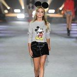 Sudadera gris estampada  de la colección de Mickey Mouse de Tezenis Underwear