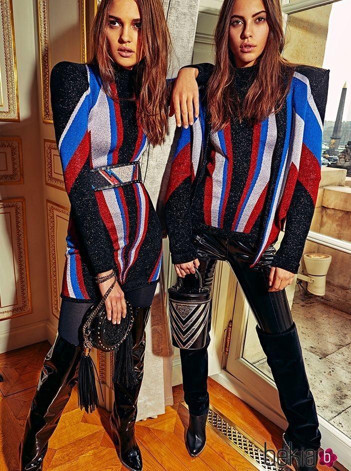 Modelos con un total look de Balmain 2018