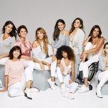 Modelos posando para la campaña #MUYNOSOTRAS de Women'secret