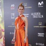 Manuela Vellés luce un espectacular vestido fluor en la Madrid Premier Week