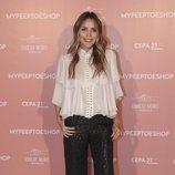 Rosanna Zanetti luce un look informal en el aniversario de 'Mypeeptoeshop'