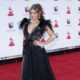 Thalía posa con un vestido vaporoso en los Grammy Latinos 2018