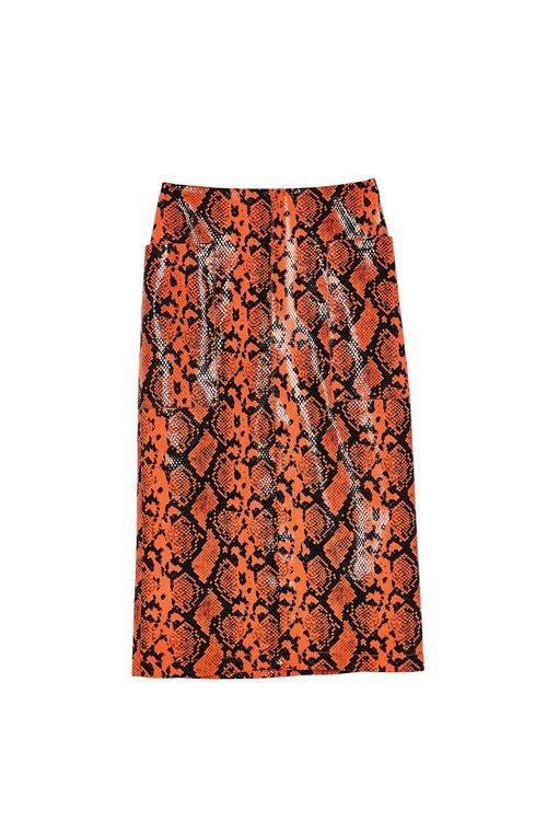 Falda de tubo con estampado de serpiente de Sfera