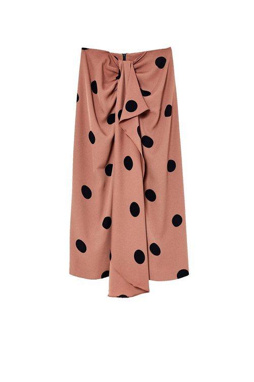 Falda rosa con topos negros de Sfera