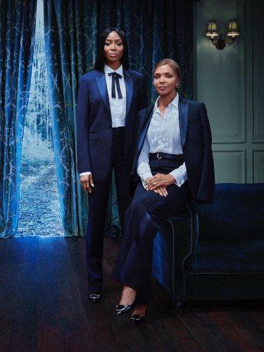 Naomi Campbell y su madre en la campaña de Navidad 2018 de Burberry